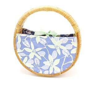 Lilly Pulitzer Wicker Purse Circular Round Floral